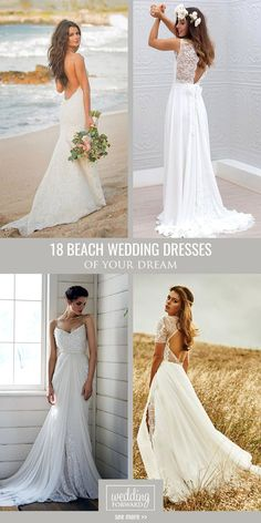 18 Beach Wedding Dresses Of Your Dream ❤ Beach wedding dresses are gorgeous! See more: http://www.weddingforward.com/beach-wedding-dresses/  #wedding #dresses #beach
