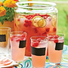 Fresh or frozen raspberries work equally well in this festive, fruit beer cocktail. This refreshing drink is the perfect sipper for a summer poolside party. Refreshing Summer Drinks, Fruity Drinks, Summer Cocktails, Wedding Shower Drinks, Bridal Shower Punch, Bridal Shower Foods, Beer Punch, Raspberry Beer, Beer Cocktail Recipes
