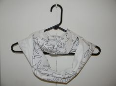 Upcycled Black and White Infinity Scarf by BirdcageTreasures, $15.00