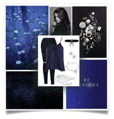 """x Blue x"" by borrowed-dreams ❤ liked on Polyvore featuring Sans Souci, Lacoste, DaVonna and West Coast Jewelry"