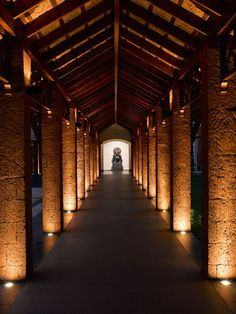 The Alila Diwa Goa - Couloir Beach Hotels, Hotels And Resorts, Column Lights, Blitz Design, Luxury Hotel Design, Corridor Lighting, Architectural Lighting Design, Lighting Concepts, Indochine