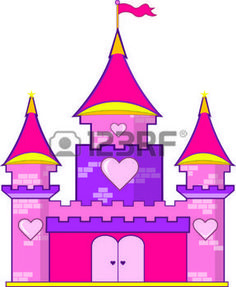 hearts castle: A pink castle with hearts is a must for the princess of the family.  Use this super cute castle to decorate everything from rooms to regal attire.