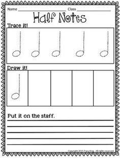 Music Tracing Worksheets by The Bulletin Board Lady-Tracy King Music Games, Music Math, Music Writing, Music Activities, Music Classroom, Music Teachers, Movement Activities, Music Lessons For Kids, Music Lesson Plans