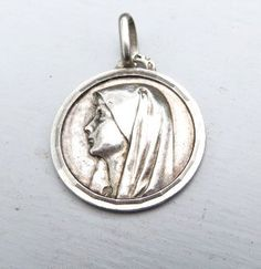 French Holy Mary of Lourdes sterling  silver by 2shoppingdiva, $46.00