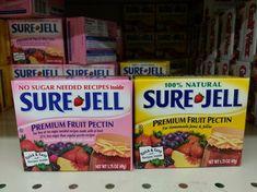 Sure Jell Strawberry Jam Recipe, Sure Jell Recipe, Making Strawberry Jam, Sugar Free Strawberry Jam, Strawberry Freezer Jam, Strawberry Rhubarb Jam, Sugar Free Jam, Peach Freezer Jam, Freezer Jam Recipes