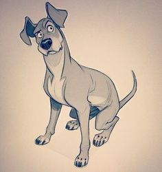 Pin by seesawpig on character dog illustration, cartoon dog, art. Animal Sketches, Animal Drawings, Drawing Sketches, Art Drawings, Illustration Art Nouveau, Dog Illustration, Design Art Drawing, Art Design, Drawing Art