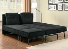 Black Sofa Beds With Chaise
