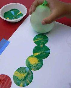 Schilderen met ballonnen...