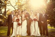 champagne wedding party | ... Weddings: Melissa + Diego - Elizabeth Anne Designs: The Wedding Blog