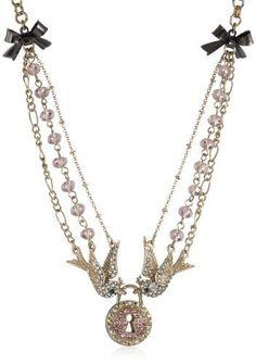 Betsey Johnson love bird necklace