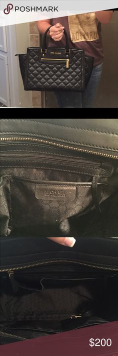 Michael Kors Quilted Selma This limited edition Michael Kors Black quilted leather Selma is gorgeous!! I bought it direct from the Michael Kors store. Gently carried. The bottom has light marks (see pic) otherwise in EUC. Comes with: attachable long shoulder strap + dust bag + original MK tag. MICHAEL Michael Kors Bags Satchels