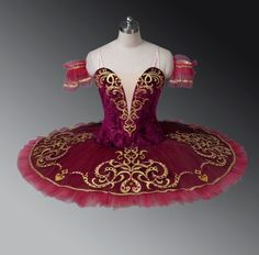 Burgundy Professional Ballet Tutu Classical Performance Dance Costume II29