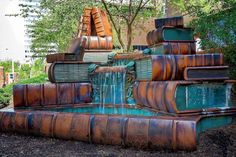 Book Fountain, Cincinnati Public Library - (Photo J.F Schmitz)