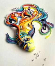 Quilling: The Art of Turning Paper Strips into Amazing Artworks.  This Fish is Amazing!!!!!