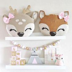 Deer Pillow, Baby Pillows, Kids Pillows, Animal Pillows, Burlap Pillows, Sewing Toys, Baby Sewing, Custom Pillows, Decorative Pillows
