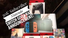 Nintendo Switch Big Bundle 30k Subscriber Giveaway Announcement #mekelgi...