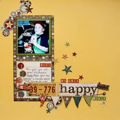 Happy layout - Simple sighting/Stephanie Perdue