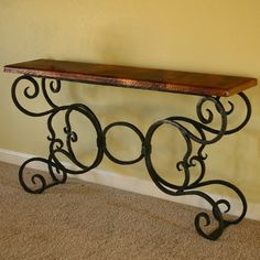 Alexander Copper Console Table by Mathews & Company