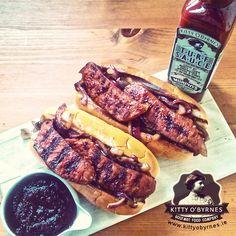 Kitty O'Byrnes #Turf Sauce #Chorizo #Brioche #Murphys #Irish #Stout Chorizo, Hot Dogs, Sausage, Irish, Kitty, Meat, Ethnic Recipes, Food, Brioche