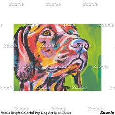 Vizsla Bright Colorful Pop Dog Art Follow the link to see this product on Zazzle! @zazzle #dog #dogs #dogstuff #dogpin #pet #pets #animals #animal #fun #buy #shop #shopping #sale #gift #dogowner #dogmom #dogdad #home #decor #homedecor #interiordesign #design #apartment #interior #artprint #art #funny #lol #cute