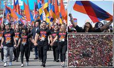 Armenian-Americans march in LA for genocide recognition Armenian American, Armenian Culture, Melting Pot, Ottoman Empire, March, Mac, Mars