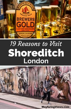 Shoreditch is London's coolest neighborhood. Take a few days for these 19 things to do in Shoreditch including: street art, markets, pubs and street food. East End London | Boxpark | Brick Lane graffiti | murals | Hipster England #england #london #Shoreditch European Travel, Europe Travel Tips, Travelling Tips, Travel Guide, Things To Do In London, Ireland Travel, Street Food, Street Art, Brick Lane