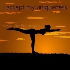 I accept my #uniqueness • http://www.shivohamyoga.nl/ • #affirmation #love #louisehay #shivohamyoga #wisdom #inspiration #yoga #om #namaste•