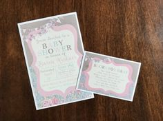 shabby chic invite shabby chic baby shower rustic by FalcoClan