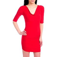Sexy Red Long Sleeve Tight Fitting Dress W/open Back From True Light