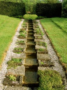A Long Narrow Rill Water Feature with Stepped Channelling at the Garden Lodge, Wilts Photographic Print by Mark Bolton - AllPosters.co.uk