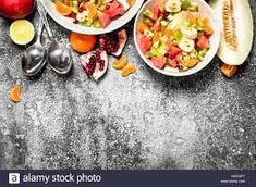 Mixed Melon Salad High Resolution Stock Photography and Images ...
