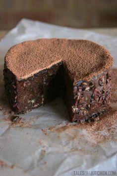 chocolate banana caramel cake