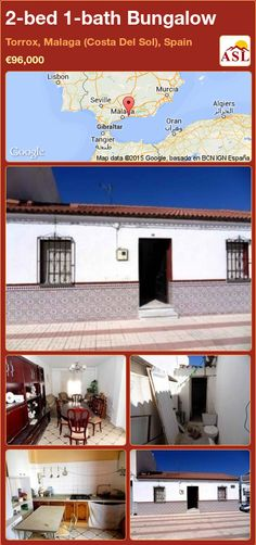 Bungalow for Sale in Torrox, Malaga (Costa Del Sol), Spain with 2 bedrooms, 1 bathroom - A Spanish Life Murcia, Independent Kitchen, Spain, Fitted Bathroom, Bungalows For Sale, Mountain View, Dining Area, Bedding, Lounge