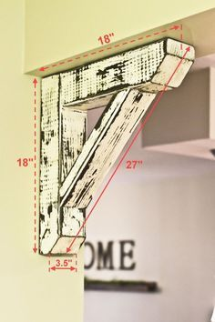 Diy wood projects Rustic house Farmhouse decor Wood diy Easy home decor Home diy - Rustic Large Corbel - Diy Home Decor Rustic, Easy Home Decor, Farmhouse Decor, Farmhouse Trim, Farmhouse Style, Modern Farmhouse, Farmhouse Ideas, Diy Wood Projects, Wood Crafts