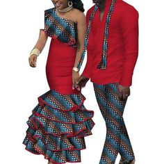 African Matching Clothing For Couple Man Woman Cotton Print Send Your – Afrinspiration Couples African Outfits, African Dresses For Kids, African Maxi Dresses, African Clothing For Men, African Shirts, Latest African Fashion Dresses, African Print Fashion, African Attire, Ankara Fashion