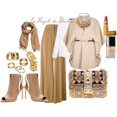 Autumn Hijab Outfit by le-hijab-de-doudou on Polyvore featuring MANGO, River Island, STELLA McCARTNEY, Cynthia Vincent, Valentino, Apt. 9, Pamela Love, H&M and Lipstick Queen