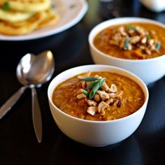 An easy and delicious recipe for Indian Mulligatawny Soup with carrots, apples, lentils, and coconut milk.