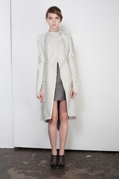 Kristofer Kongshaug SS 2012 Dart Manipulation, Summer Coats, Paris Design, Cover Up, Normcore, High Neck Dress, Nudes, My Style, Cape