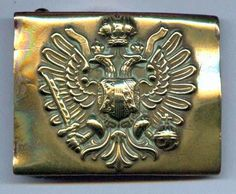 Austro-Hungarian Army - Belt Buckle with the House of Hapsburg Double-Headed Eagle. WW1.
