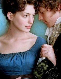 "anne hathaway & james mcavoy in  "" becoming jane"""