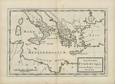 """""""Acquisitiones Phyrrhi Epirotarum Regis situ in Plutarch"""" This map shows (as is described by Plutarch) the colonization of Southern Italy including Sicily by the Greece in the 8th century B.C. The Italian part of the Greek expansion was called """"Magna Graecia"""". For many centuries, well into Christian time the Greek lang Antique Maps, Antique Prints, Magna Graecia, Greek Language, House Map, Greek Culture, Southern Italy, Sicily, The Expanse"""