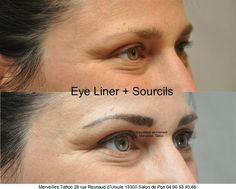 Maquillage permanent sourcils et eye liner réalisé par Vanessa