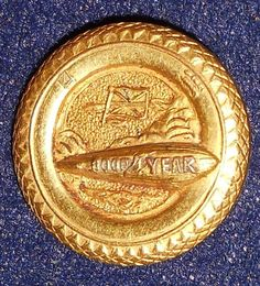 Vintage Good Year Gold Filled Tire and Zeppelin Airship Advertising RARE Pin | eBay