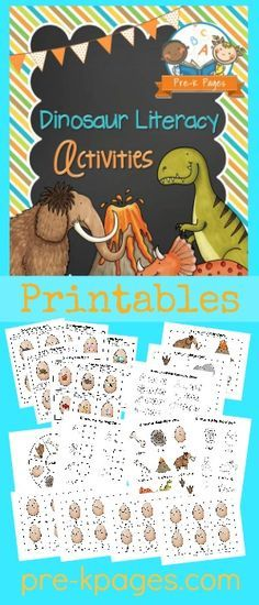 Printable Dinosaur Literacy Activities for #preschool and #kindergarten