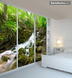Fotomurales La cascada del bosque