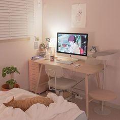 Study Room Decor, Room Ideas Bedroom, Small Room Bedroom, Bedroom Decor, Tiny Bedroom Design, Small Room Design, Living Room Decor, Aesthetic Room Decor, Minimalist Room