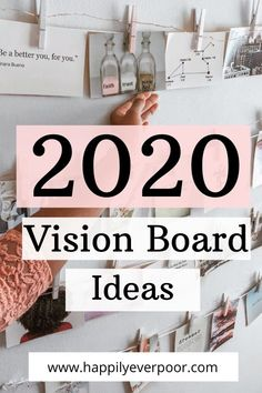 Your 2020 visions and goal will come to life with these vision board ideas for the new year. Check out how you can turn your goals into a piece of decor in your home!