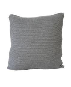 Grey Small Stitch Cushion