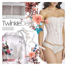 """""""TWINKLEDEALS:  Enchanting white lingerie!"""" by vn1ta ❤ liked on Polyvore"""