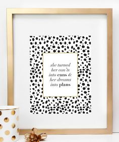 Create a warm and welcoming atmosphere with this motivational print that adds simple charm to your wall display.